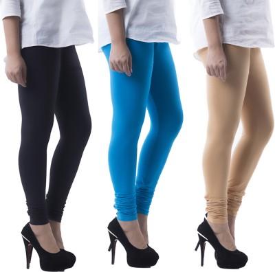 Prashil Women's Black, Blue, Beige Leggings