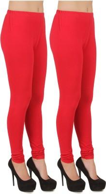 Stylishbae Women's Red, Red Leggings