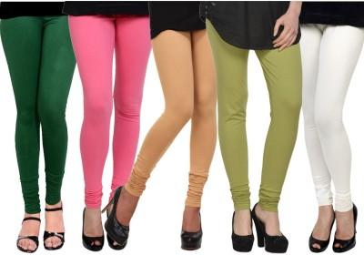 Kjaggs Women's Dark Green, Green, Beige, Pink, White Leggings