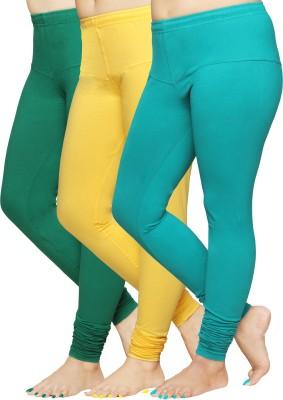 Pomelo Women's Green, Yellow, Blue Leggings