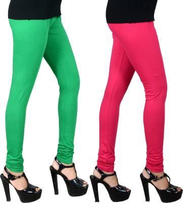 JSA Women's Green, Pink Leggings