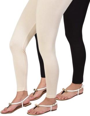 BanTiw Women's White, Black Leggings