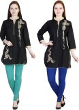 MDR Women's Blue, Light Green Leggings (...