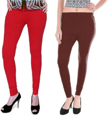 Colors More Women's Red, Brown Leggings