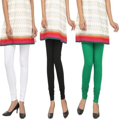 Agrima Fashion Women's White, Black, Green Leggings