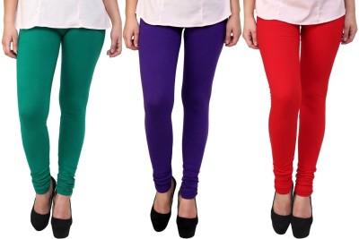 Legemat Girl,s Green, Red, Purple Leggings