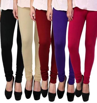 Shikha Women's Black, Beige, Maroon, Blue, Pink Leggings