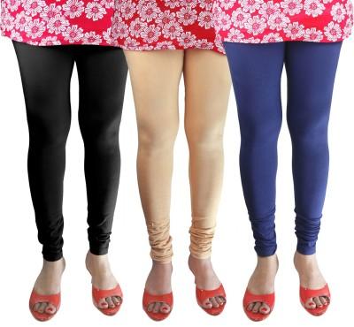 Green Zone Women's Black, Beige, Blue Leggings