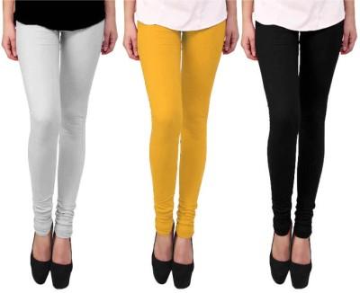 Escocer Women's White, Black, Beige Leggings