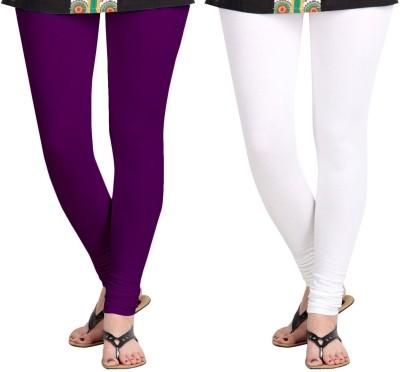 ZACHARIAS Women's Purple, White Leggings