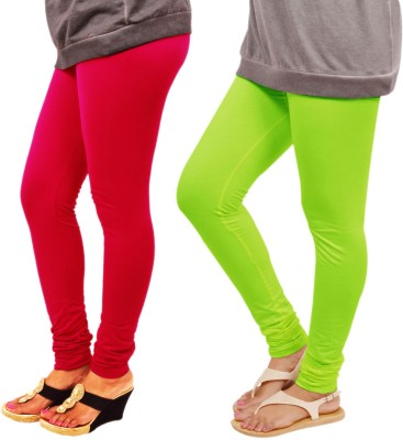 Leggings World Women's Red, Light Green Leggings