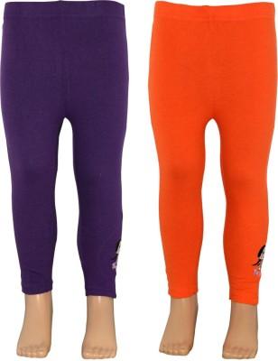Chhota Bheem Girl's Purple, Orange Leggings