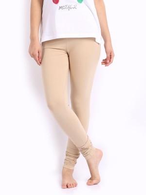 Desi Fusion Women's Beige Leggings
