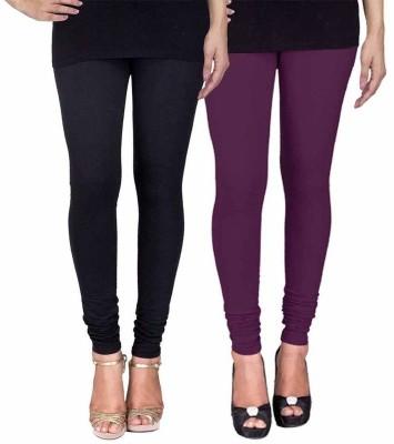 Ayesha Fashion Women's Black, Purple Leggings