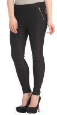 Ansh Fashion Wear Women's Black Jeggings