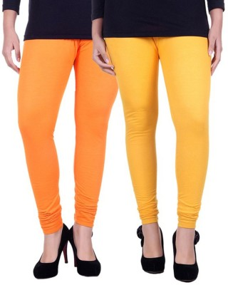Facere Women's Orange, Yellow Leggings