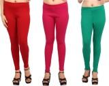 Comix Women's Orange, Pink, Green Leggin...