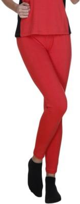 Meiro Women's Red Leggings