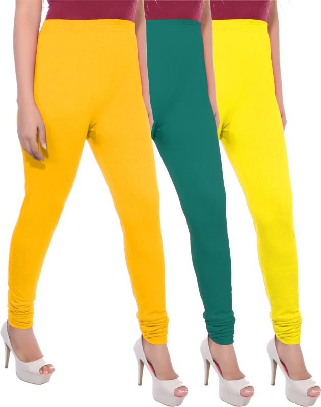 Apple Knitt Wear Women's Maternity Wear Yellow, Green, Yellow Leggings(Pack of 3)