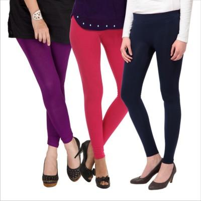 Melisa Women's Purple, Pink, Black Leggings