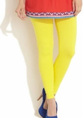 Aamyra Women's Yellow Leggings