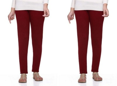S Redish Women,s Maroon Leggings