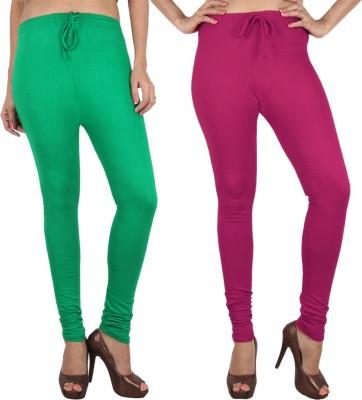 Danbro Women's Green, Pink Leggings