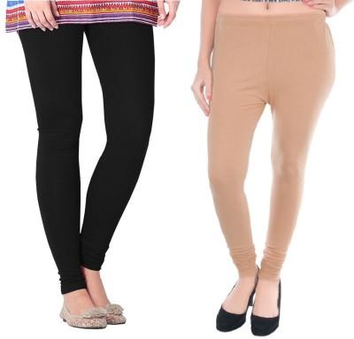 COLORS MORE Women's Beige, Black Leggings