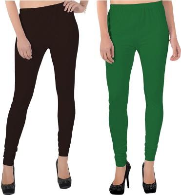 X-Cross Women's Brown, Green Leggings