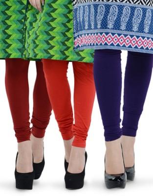 Tjaggies Women's Red, Maroon, Purple Leggings