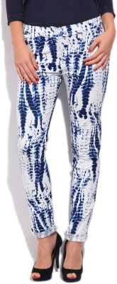 Cherokee Women's White, Blue Jeggings