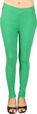 Ahhaaaa Women's Green Jeggings