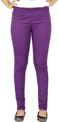 E-Wa Women's Purple Treggings