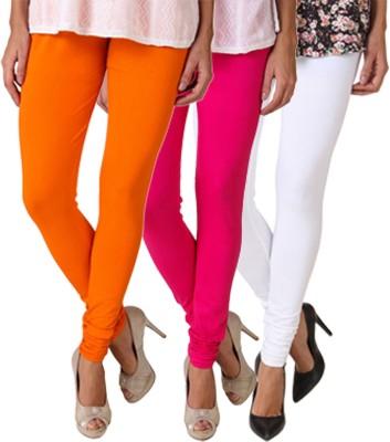 Fasense Women's White, Pink, Orange Leggings
