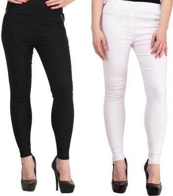 Magrace Women's Black, White Jeggings