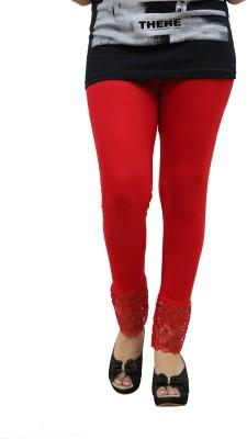 Fashion Kala Women's Red Leggings