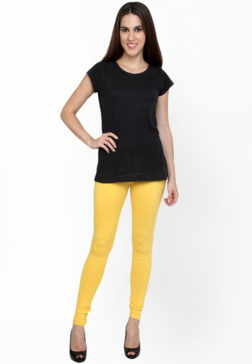Not Bad Womens Yellow Leggings