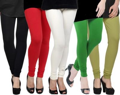 Kjaggs Women's Black, Red, White, Green, Green Leggings