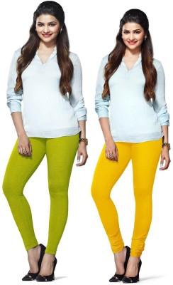 Amul Florio Women's Yellow, Dark Green Leggings