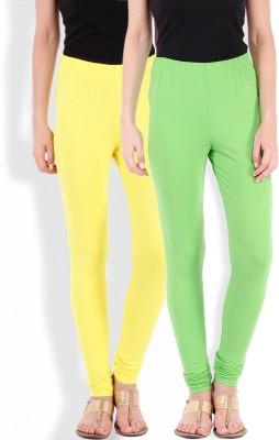 Beyouty Women's Green, Yellow Leggings