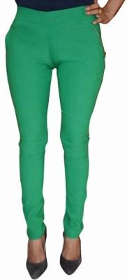Back Eye Women's Green Jeggings