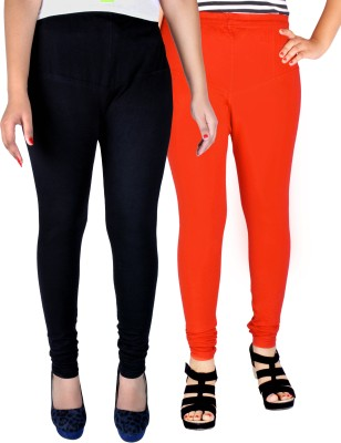 Dolphin Women's Black, Orange Leggings