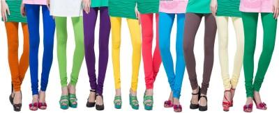 Apsn Retail Women's Orange, Blue, Light Green, Purple, Yellow, Red, Light Blue, Brown, Beige, Dark Green Leggings