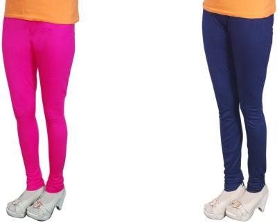 Radhika Garments Women's Pink, Blue Leggings