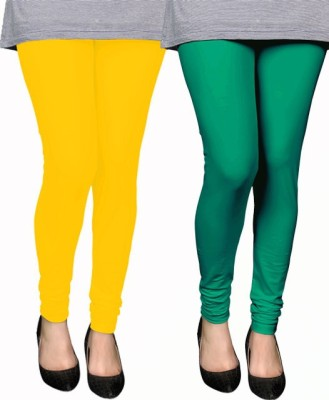 PAMO Women,s Yellow, Green Leggings