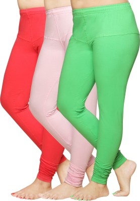 Pomelo Women's Pink, Green, Red Leggings