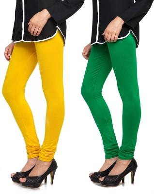 Bulbul Women's Yellow, Green Leggings