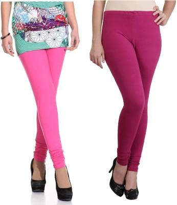 Ahhaaaa Women's Pink, Maroon Leggings