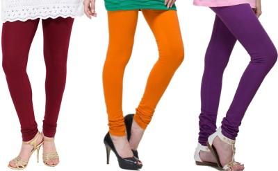 Lienz Women's Maroon, Orange, Purple Leggings