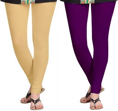 ZACHARIAS Women's Beige, Purple Leggings